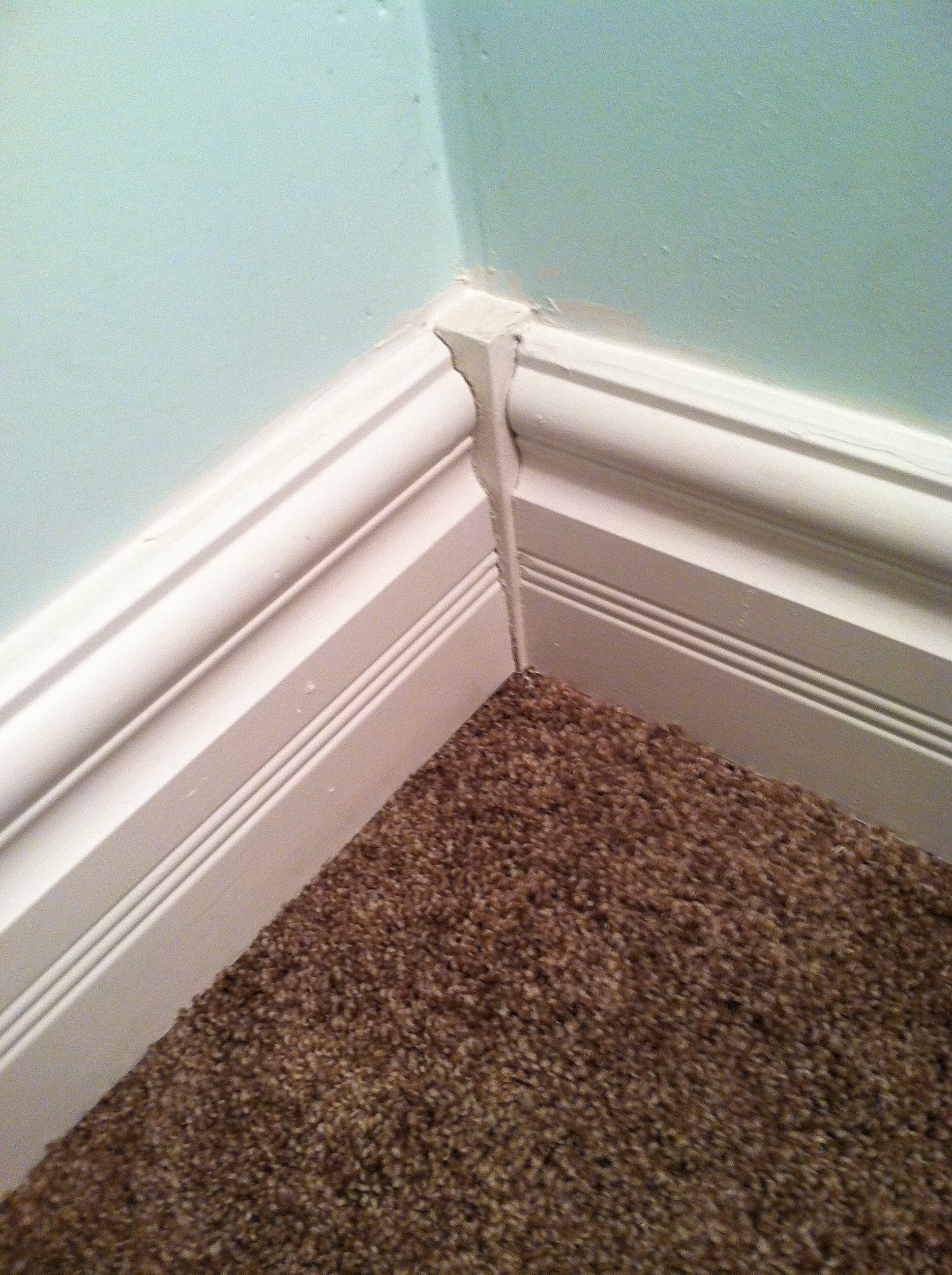 how to cut long baseboards