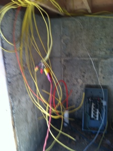 wires in the basement