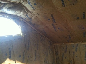 Insulation in the loft.