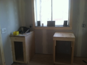 the smaller cabinets