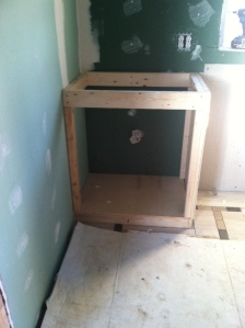 2x4 frame for cabinet